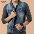 New Fashion Spring Men'S Denim Sleeveless Vest Autumn Jeans Waistcost For Male Plus Size Denim Jacket Free Shipping Q288