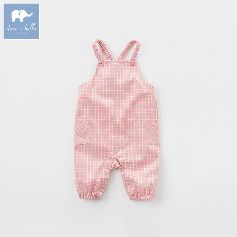 DB7374 dave bella spring baby girls fashion pink plaid overalls children toddler clothes baby cute overalls dbz6974 dave bella spring baby girls fashion denim overalls children toddler clothes baby cute overalls