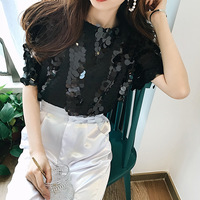 1868] 2018 summer new style heavy craft net gauze bead piece embroidery, fashionable and loose thin coat.