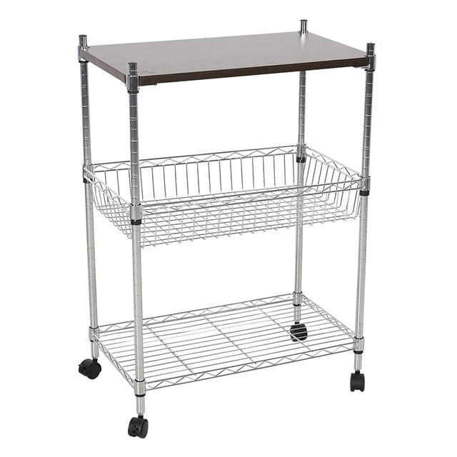 3 layers kitchen trolleys cart 4 wheels multi function cart wagon kitchen cart sturdy board - Kitchen Cart On Wheels