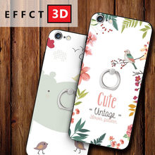 New For iPhone 6 6splus Case Soft Silicone 3D Painted Cover Apple 7 8 plus X Protector Back Relief Cases Kickstand