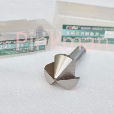 1pc 60mm 90 Degree 3 Flute HSS Chamfer Chamfering End Mill Cutter 12mm x 60 degree hss dovetail cutter end mill