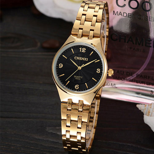 2017 Gold Watch Women Watches Ladies Fashion Brand Luxury Golden Wrist Quartz Watch Female Clock Relogio Feminino Montre Femme amorem буква l amorem