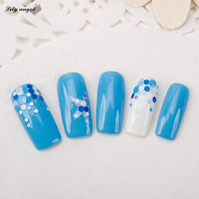 Lelie Angel 12 Mix Kleurendoos Nail Art Glitter Ronde Vormen
