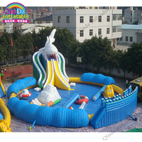 Commercial Outdoor Giant Inflatable Floating Water Park with Pool for Kids and Adults