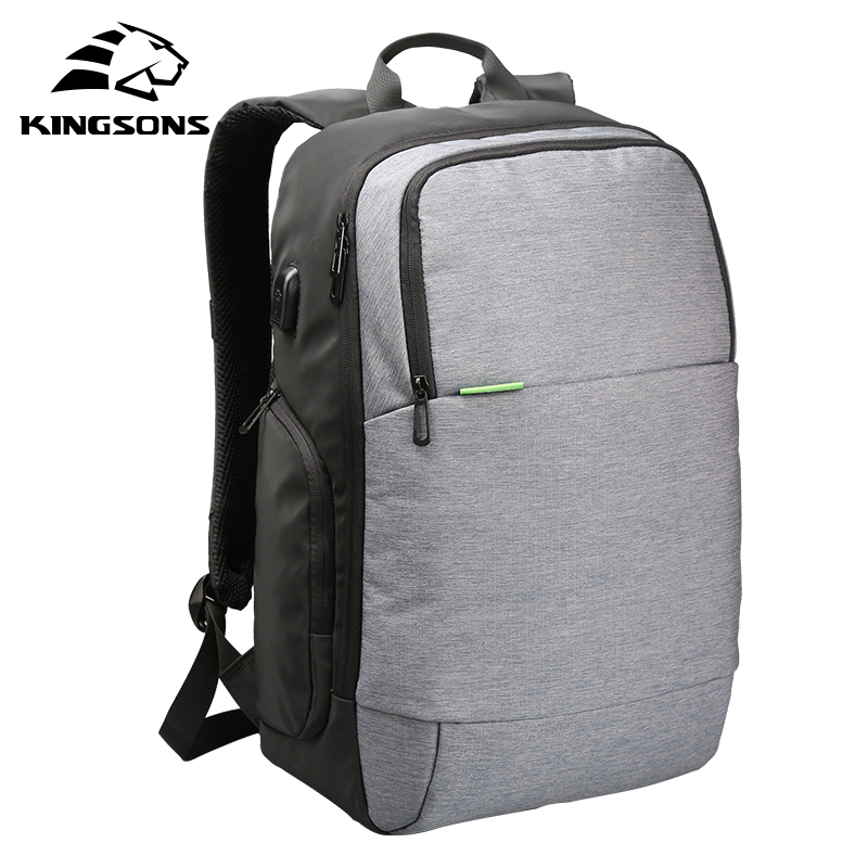Kingsons KS3143W 15.6 inch Men Women Laptop Backpack External USB Charge Anti-theft Notebook Computer travel Backpack Bags kingsons external charging usb function school backpack anti theft boy s girl s dayback women travel bag 15 6 inch 2017 new