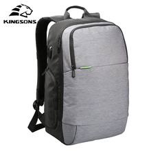 Kingsons KS3143W 15.6 inch Men Women Laptop Backpack External USB Charge Anti-theft Notebook Computer travel Backpack Bags