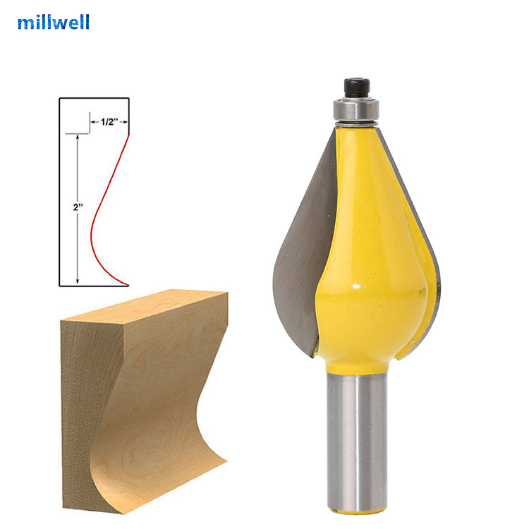 Persevering 1pcs-12.7mm*35mm Cnc Free Shipping Woodworking Router Bit,solid Carbide End Mill,convex Lines Furniture Foot Mold Knife Machine Tools & Accessories Milling Cutter