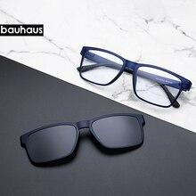 ハイエンド品質の光学眼鏡フレームクリップ磁石上の偏光近視メガネサングラス眼鏡フレーム男性
