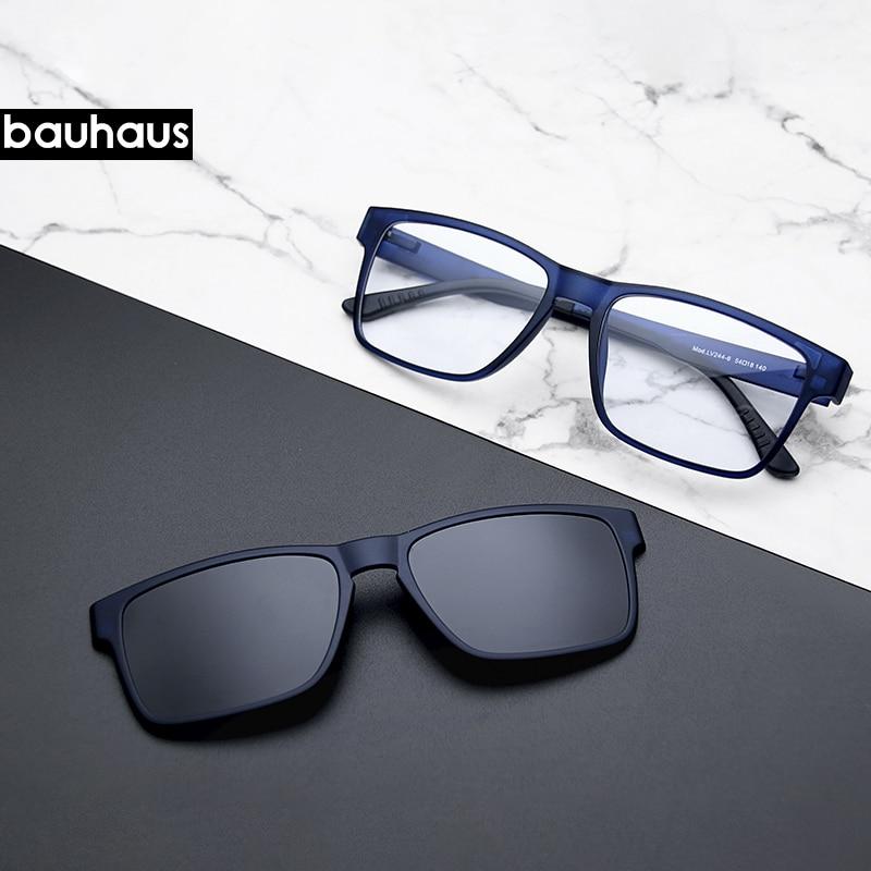 Cadre de lunettes optiques de qualité supérieure, à Clip, verres à monture, myopie polarisées, pour hommes, haut de gamme