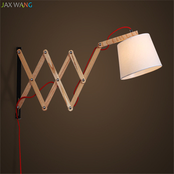American Wood Art Scalable Vintage Wall lamps lights bathroom bedroom light led wall lights for home industrial decor lamp