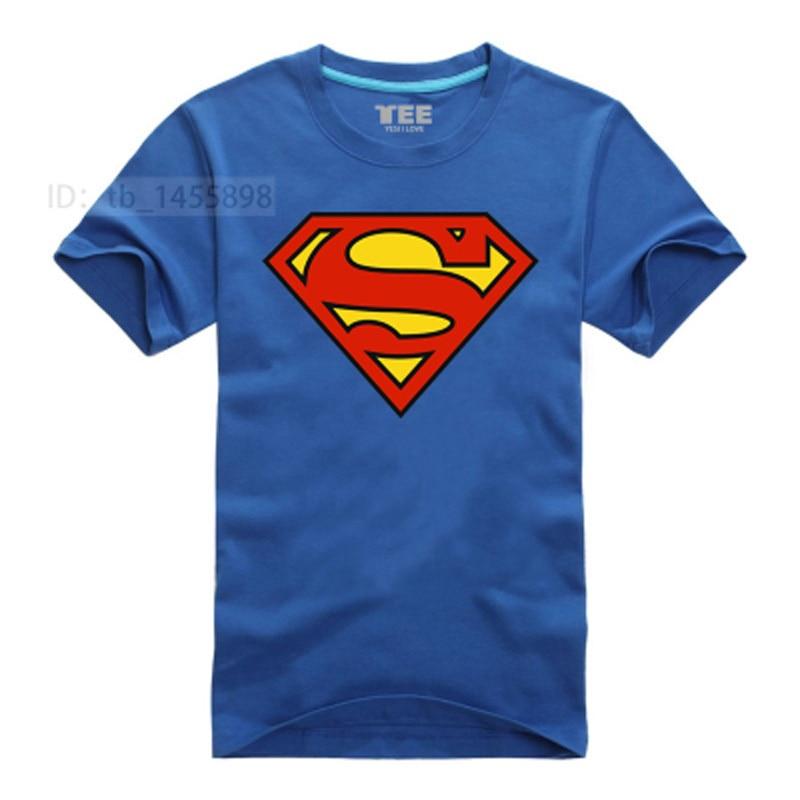 Superman T-Shirt 7 Colors Cartoon Comic Super Hero Men T Shirts Geek Tee Tshirt
