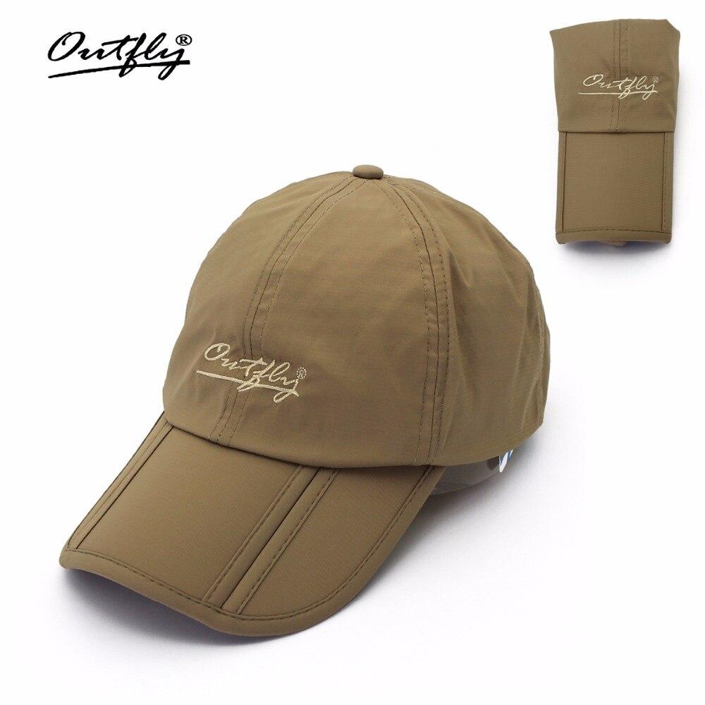 Prix pour Outfly pliant soleil de chapeau visera en plein air pliable rapide sec chapeau de pare-soleil de pêche de marque chapeau étanche hommes sport canard cap