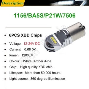 Image 2 - 2 X 1156 BA15S P21W 1157 BAY15D P21/5W BAU15S PY21W Car LED Light Canbus Error Free Auto LED Bulb Lamp White Red Amber 12v 24v D