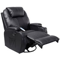 Giantex Electric Massage Chair Leather Recliner Sofa Chair Modern Ergonomic Lounge Heated With Control Sofa Chairs