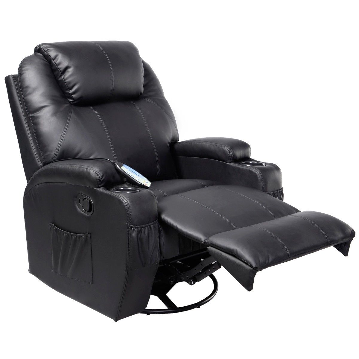 Giantex electric massage chair leather recliner sofa chair for Modern leather lounge chairs