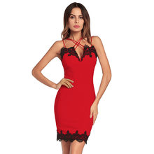 2ce41fe3f 2018 amazon women's cross-border supply detonation sexy cross braces lace  stitching package buttocks dress. 3 Colors Available