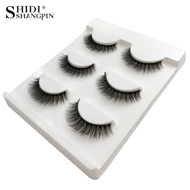 3 Pairs natural false eyelashes thick makeup real 3d mink lashes soft eyelash extension fake eye lashes long mink eyelashes 3d 4