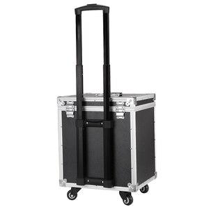 Новая алюминиевая рама + ABS Косметический Чехол, кабина макияж художника Toolbox, колесная тележка Ногти Макияж сумка багаж прокатки чемодан ко...