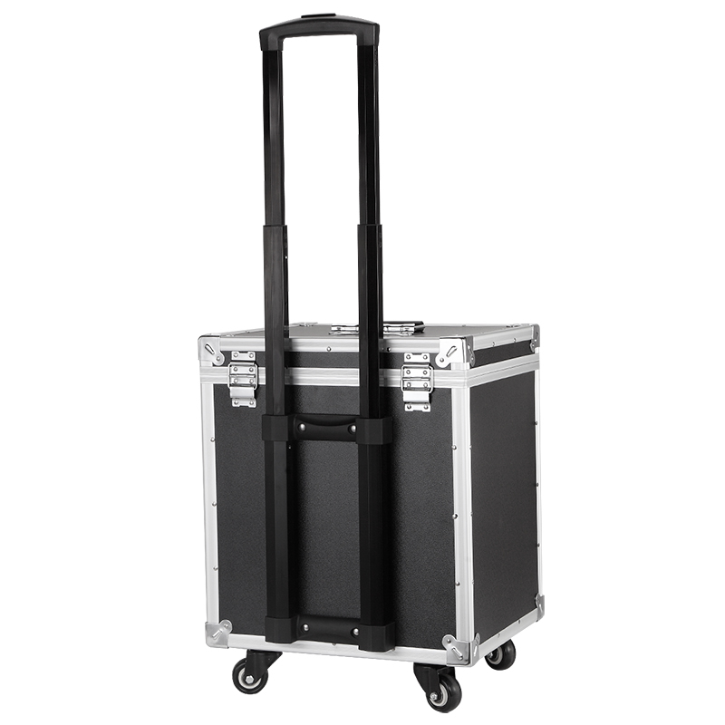 New Aluminum Frame+ABS Cosmetic Case,Cabin Makeup Artist Toolbox,Wheel Trolley Nails Make-up Bag Luggage Rolling Suitcase Box