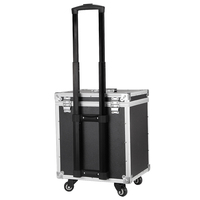 New Aluminum frame+ABS Cosmetic Case,Cabin Makeup artist Toolbox,Wheel Trolley Nails Make up Bag Luggage Rolling Suitcase Box