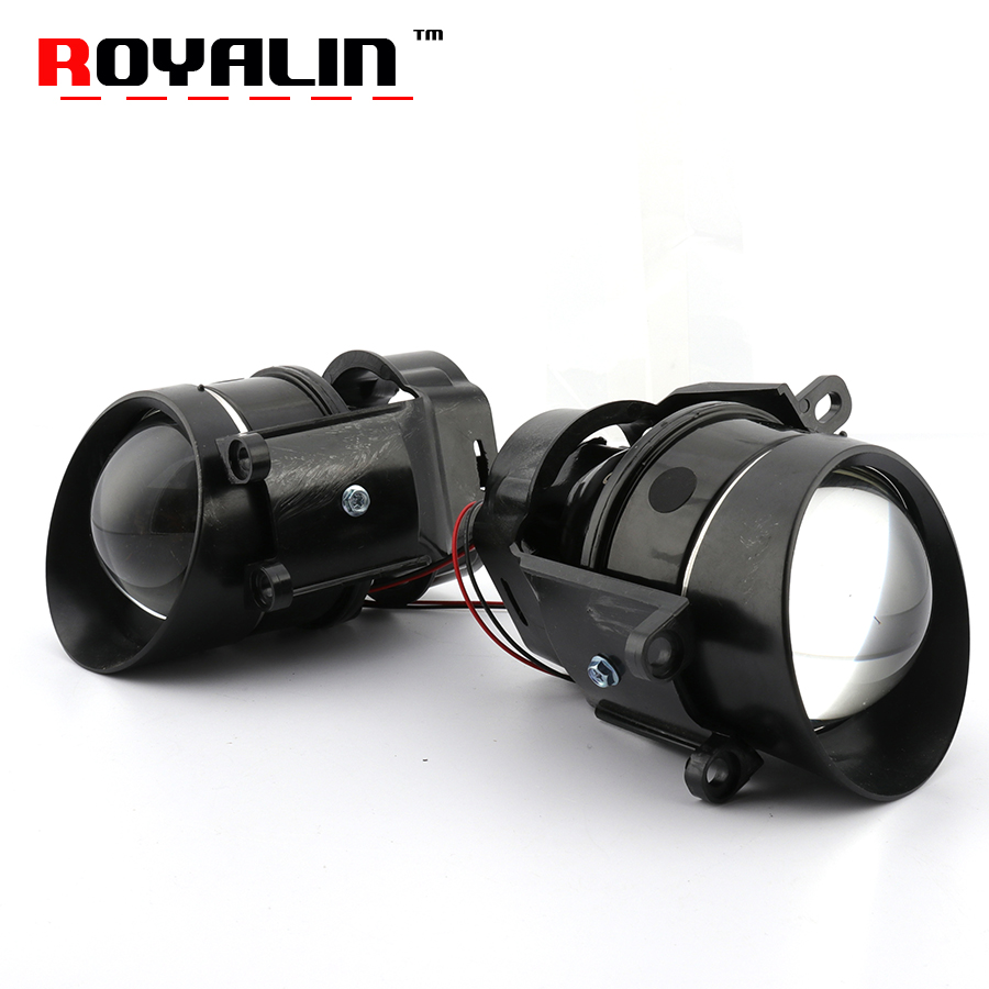 ROYALIN Fog Light HID Bi Xenon Projector Lens Hi/Lo Beam for Toyota Lexus Peugeot Citroen Prius Highlander Car Styling H11 Lamps baon флисовые перчатки арт baon b364901