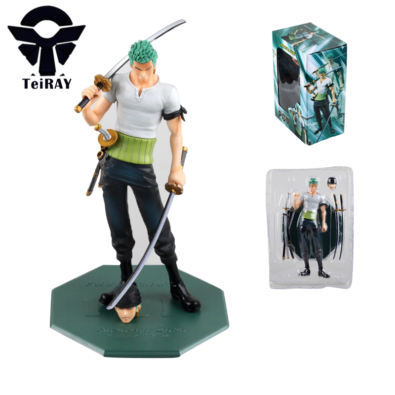 One Piece Roronoa PoP Zoro Banpresto Figuras 21CM 10th Limited Ver Japan Anime Pvc Action Figures Toy Kids Hot Toys for Children free shipping 6 styles cute kids cheese cat action figures mini cat pvc toys figures model toy best decoration for children