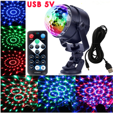 IR Remote RGB LED Crystal Magic Rotating Ball Stage Lights USB 5V Colorful ktv DJ light disco light Music control Light remote control led crystal magic ball lights rgb stage light rotating colorful led desk lamp party christmas decoration for home