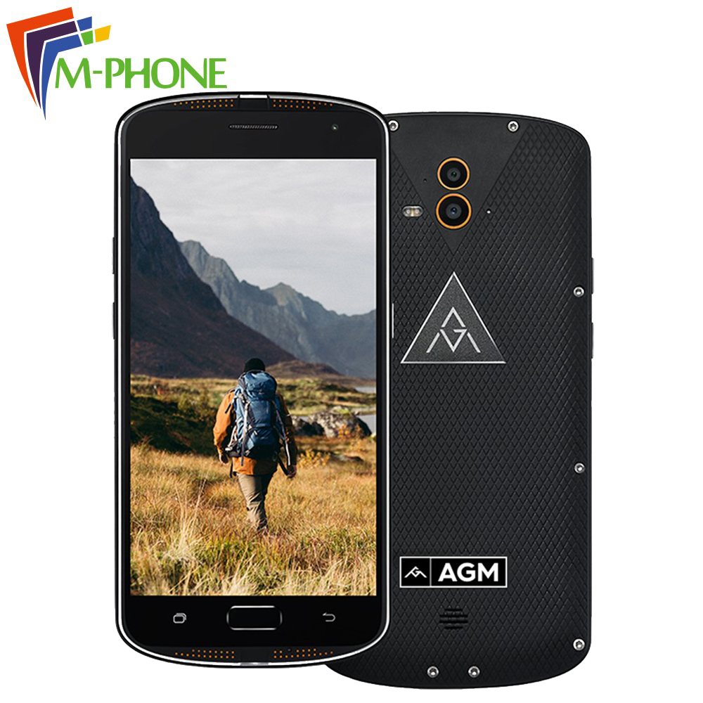 AGM X1 IP68 4G RAM 64G ROM Mobile Phone Qualcom Octa Core 5400mAh Dual 2 Back
