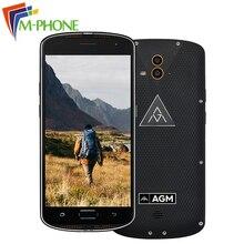 AGM X1 IP68 4 г Оперативная память 64 г Встроенная память мобильного телефона Qualcom Octa core 5400 мАч двойной 2 задних сзади Камера Водонепроницаемый смартфон