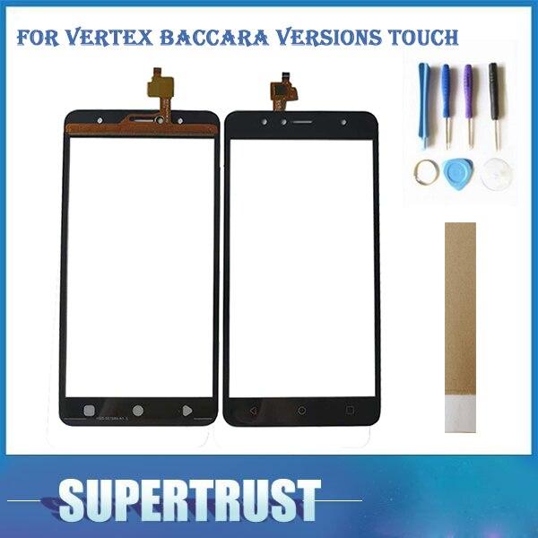 5,5 zoll Für Vertex Baccara Versionen Touch Smartphone Touchscreen Digitizer Schwarz Farbe Mit Band und Werkzeuge Für Freies