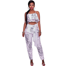 97e58f10ff8 Wonder Beauty Sexy Spaghetti Strap Overalls Macacao Feminino White  Sleeveless Cut Out Printed Bodycon Rompers Womens Jumpsuit