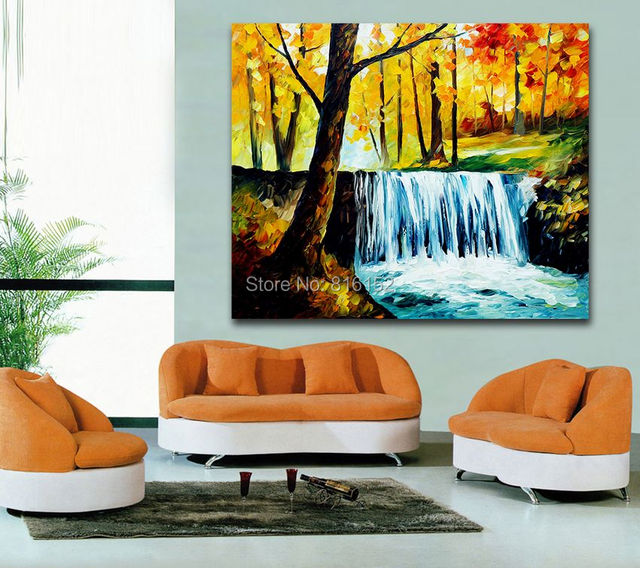 aliexpress : buy fashion palette knife painting forest