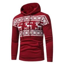 Hoodies Men 2017 New brand Hoodie Streetwear Deer Printing Hoodies Men Fashion Tracksuit Male Sweatshirt Hoody Mens clothing 3XL