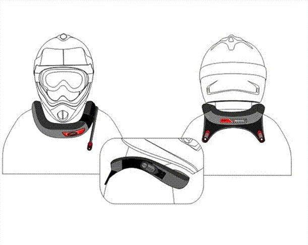 ATV Мотоцикл Велоспорт шейный протектор Мотокросс MX шейный фиксатор защитный предохранитель шестерни шеи колодки Scoyco N02