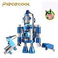 Piececool El Viaje De Hola Cool tool set Kits de Robots + 2 unid P064-BS Modelos Rompecabezas Juguetes Rompecabezas de DIY 3D de Metal del Corte del Laser Para la Auditoría
