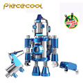 Piececool The Travel Of Hello Cool Robots + 2pc tool set Kits P064-BS DIY 3D Metal Puzzle Laser Cut Models Jigsaw Toys For Audit
