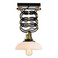 Распродажа Lamparas Loft ретро Американская деревня промышленного ветер Ресторан подъемные телескопические Стекло крышка подвесные светильник