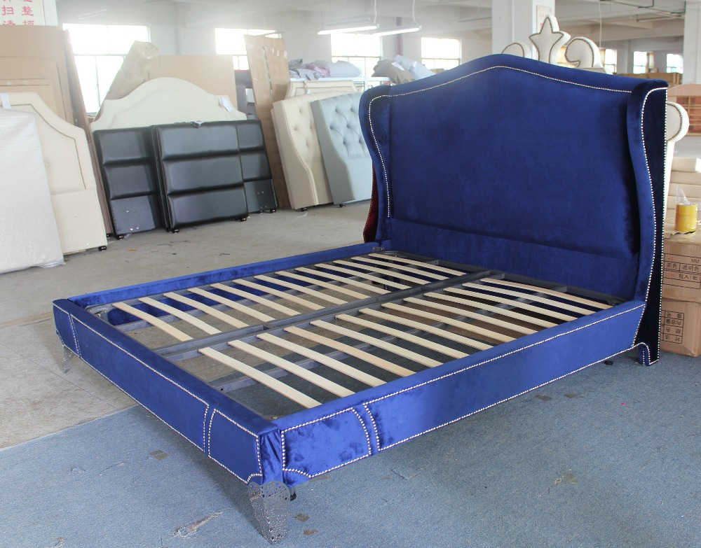 High Quality French Style Modern Fabric Bed Home Furniture