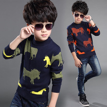 2016 Autumn Winter Children Clothing Animal Pattern Boys Top Cotton Boy Sweater Knitted Sweater Long Sleeve Kids Clothes Brand