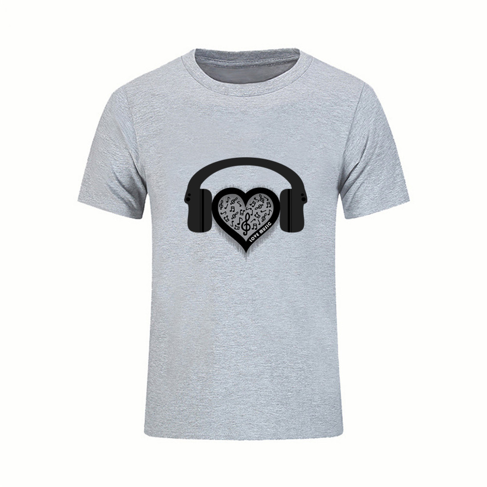 Cinta Musik Jantung Rainbow T Shirt Pria Camisetas Hombre Swag Kaos Koas Masker Mr Hadiah Katun Baru Lucu Tshirt Atasan Tees Di Dari Pakaian