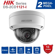 Hik Original DS-2CD1121-I English CCTV Camera replace DS-2CD2125F-IS 2MP Mini Dome IP Webcam POE IP67 Firmware Upgradeable
