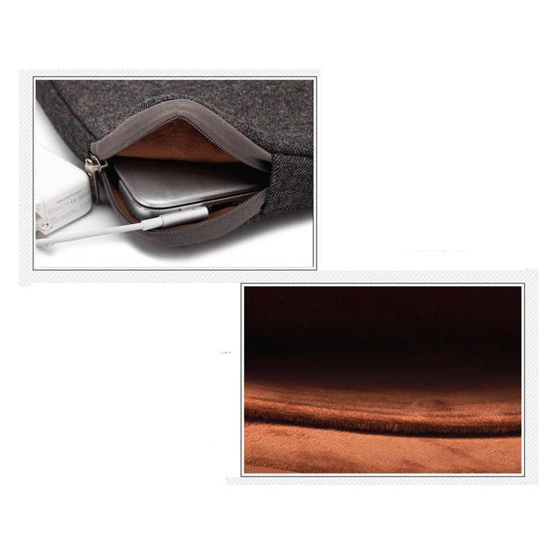 Merasa tas laptop Tahan Air kasus untuk Wanita dan Pria 11 14 15 15.6 17 17.3 untuk Macbook Air/Pro 13 Laptop Lengan Kasus 13.3 bag kasus