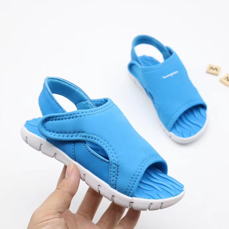 Inventive Original Brand Kids Casual Sandals Open-up Hook And Loop Soft Anti-slippery Rubber Bottom Boys Girls 2019 Summer Beach Sandals Diversified Latest Designs Children's Shoes