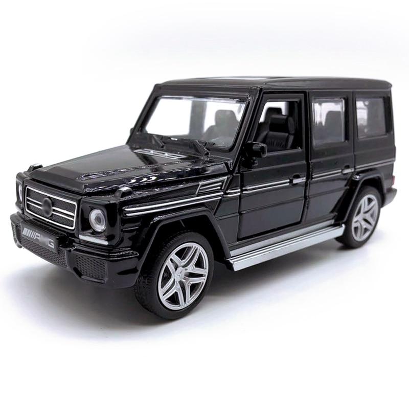1:32 Scale Alloy Diecast Car Benz G-Class SUV AMG Model Pull Back Car Birthday Gift Toy For Kid Boy