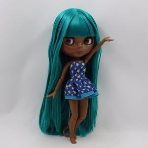 Image 2 - Icy Fabriek Blyth Pop Super Black Skin Tone Darkest Huid Groene Steil Haar Joint Body Bjd 1/6 30Cm Speelgoed