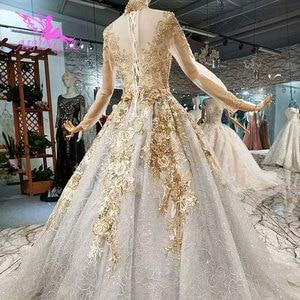 Image 5 - AIJINGYU Weddingdress Short Long Train Gowns Discount Plus Size 2021 2020 Amazings Simple Gown Wedding Dress Singapore