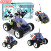 4 In 1 Science Education Toy For Pupil Designer Electric Light Sound Police Rescue Team Car