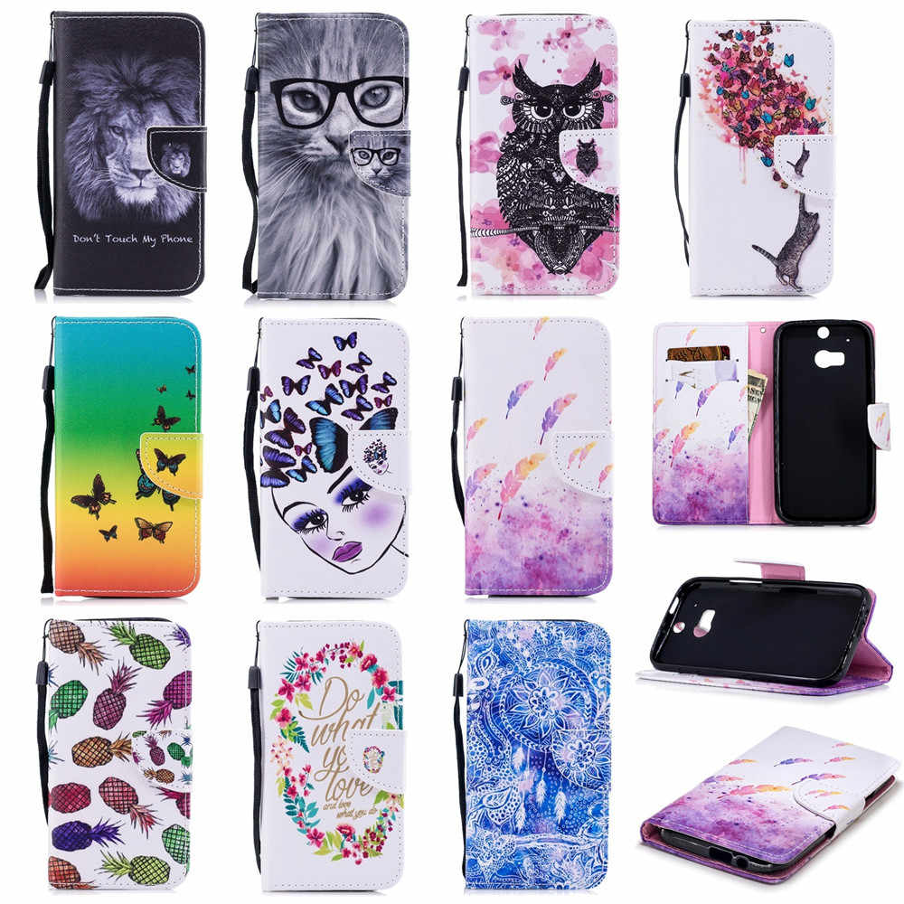 For HUAWEI Y3 2017 case Leather Wallet Flip Cover Funda animal Case CUTE Cover Protable Leather Painted for HUAWEI Y5 2017 Cases