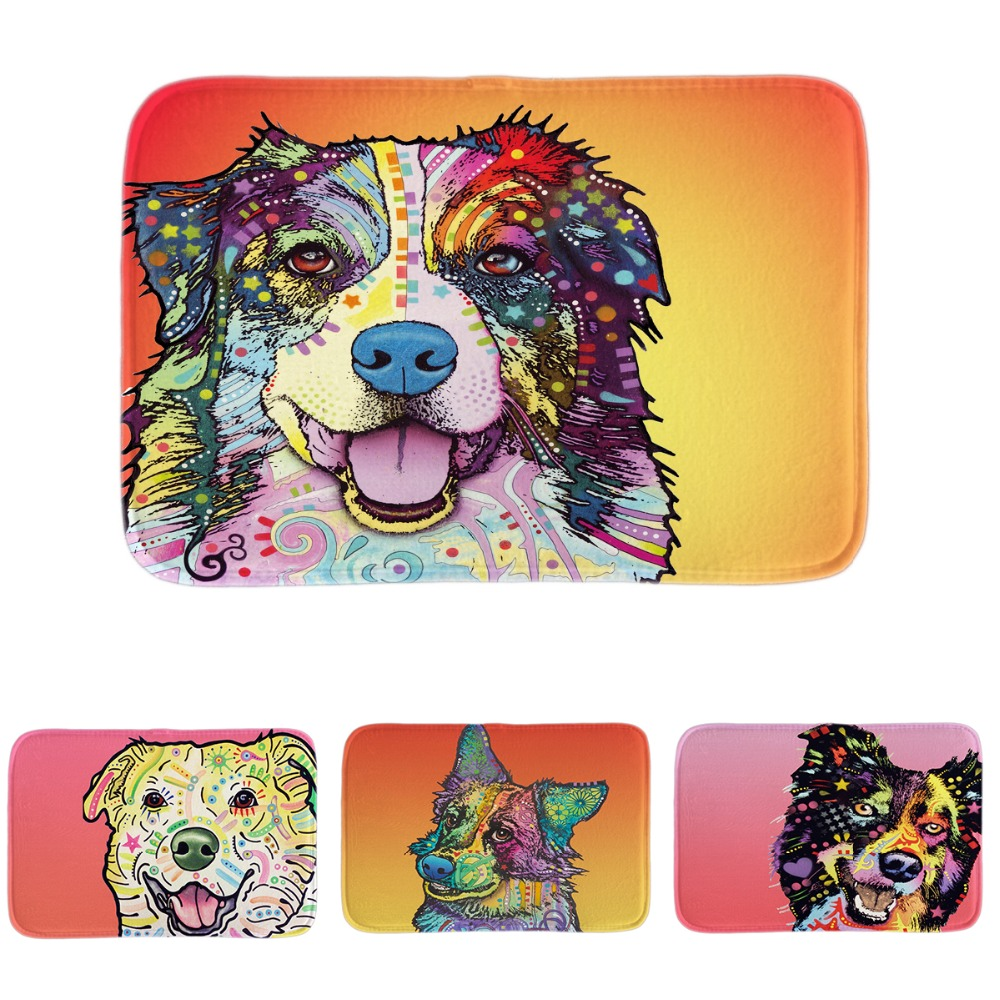 Exceptionnel Soft Entrance Floormat Akita Dog Door Mat Cute Art Pet Border Collie Indoor  Outdoor Customize Animal Colorful Home Bathroom Mats In Mat From Home U0026  Garden ...